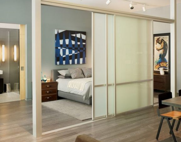 vách ngăn đẹp cho phòng ngủ