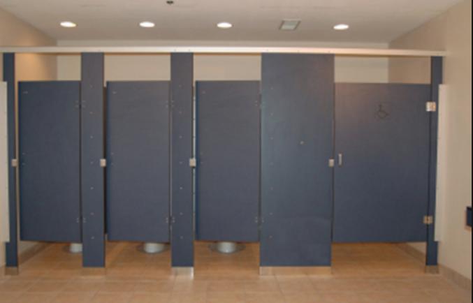 Thi công lắp đặt vách ngăn vệ sinh compact