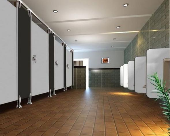 vách ngăn nhà vệ sinh compact đẹp do Gia Phú lắp đặp