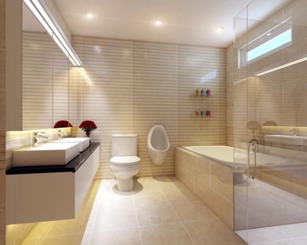 vách ngăn phòng tắm bằng kính